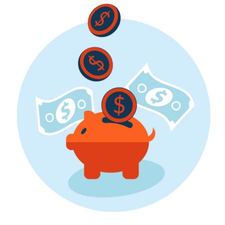 Icono de ofertas y ahorros