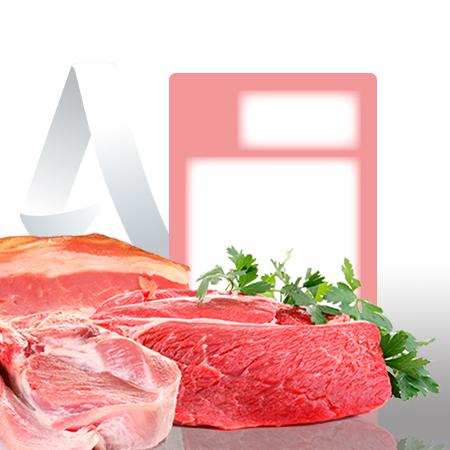 Etiquetas pegatinas sector carniceria de 59x80 mm
