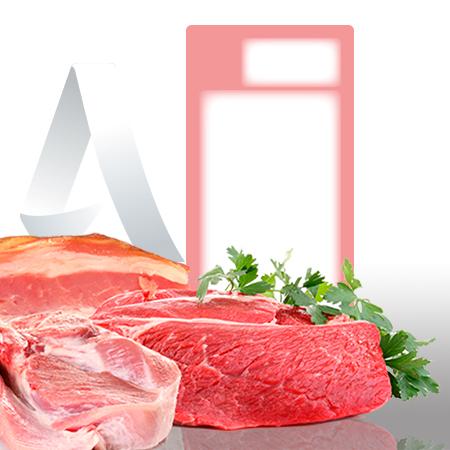 Etiquetas pegatinas sector carniceria de 59x120 mm