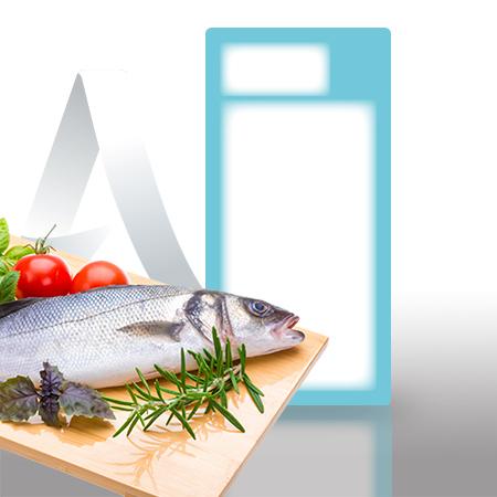 Etiquetas pegatinas sector pescaderia de 59x120 mm